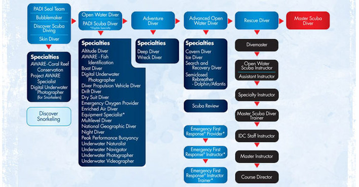 padi course flow chart